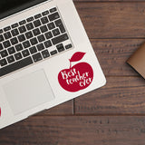 Best Teacher Ever | Trackpad decal | Macbook Decal | Adnil Creations