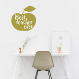 Best teacher ever | Wall Quote | Wall Quote | Adnil Creations