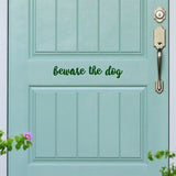 Beware the dog | Door Decal | Door Decals | Adnil Creations