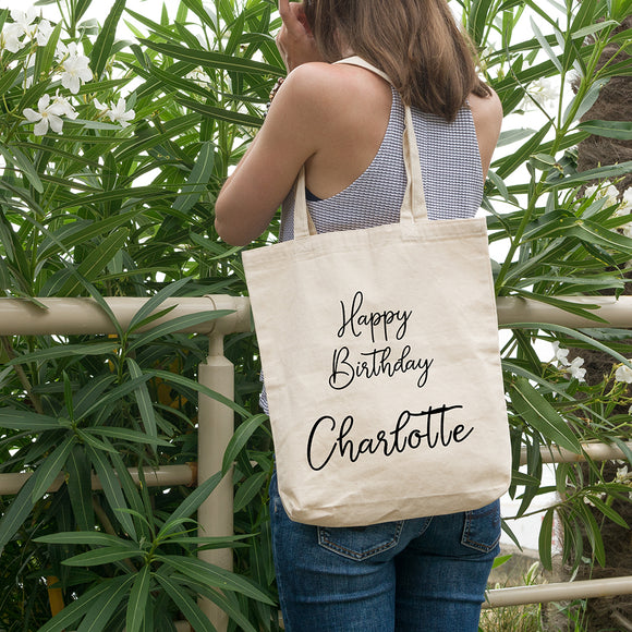 Personalised Birthday Bag | 100% Cotton Tote Bag | Tote Bag | Adnil Creations