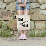 Rise and shine | 100% Cotton Tote Bag | Tote Bag | Adnil Creations