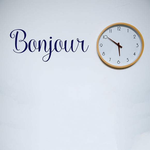 Bonjour | Wall Quote | Wall Quote | Adnil Creations