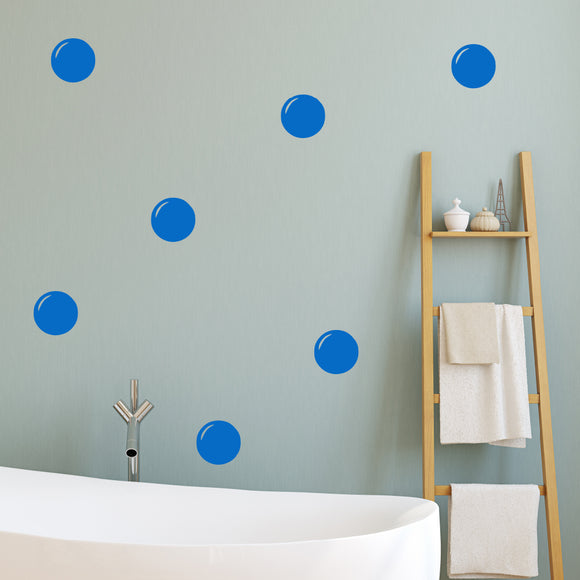 Set of 50 Bathroom Bubble Wall Stickers | 3 sizes available to choose from
