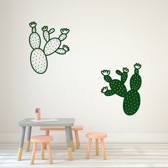 Pair of Cactuses | Wall Decal | Wall Art | Adnil Creations