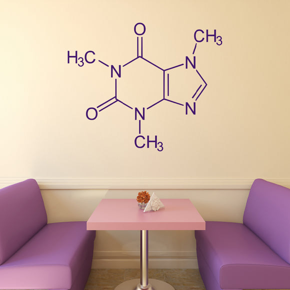 Caffeine Molecule | Wall Decal | Wall Art | Adnil Creations
