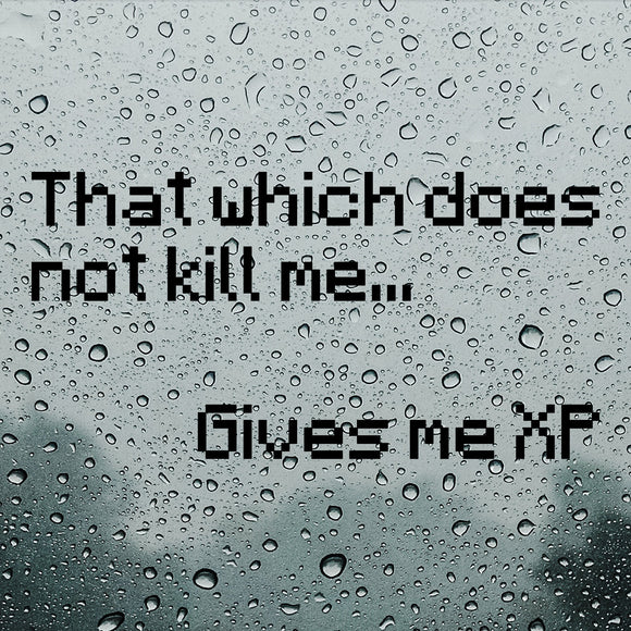That which does not kill me gives me XP | Bumper Sticker | Bumper Sticker | Adnil Creations