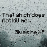 That which does not kill me gives me XP | Car Bumper Sticker