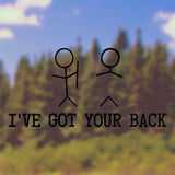 I've got your back | Bumper Sticker | Bumper Sticker | Adnil Creations