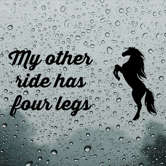 My other ride has four legs | Bumper Sticker - Adnil Creations