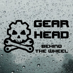 Gearhead behind the wheel | Bumper Sticker | Bumper Sticker | Adnil Creations