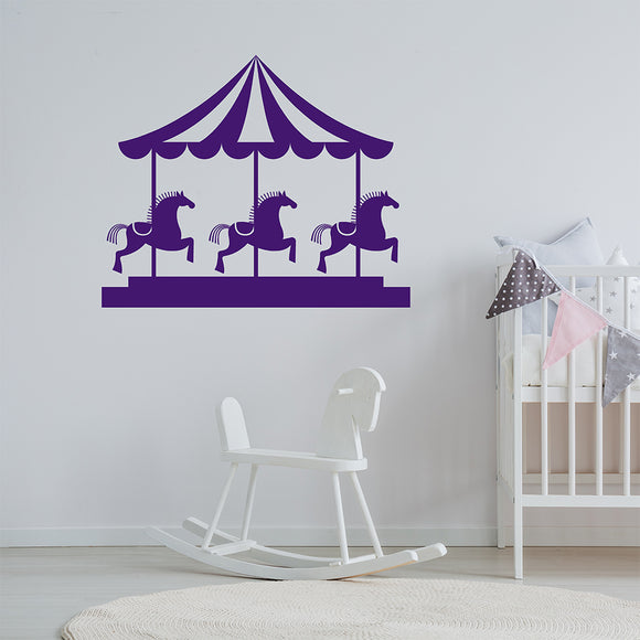 Funfair Carousel | Wall Decal | Wall Art | Adnil Creations