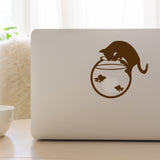 Cat and Fish Bowl | Laptop Decal | Macbook Decal | Adnil Creations