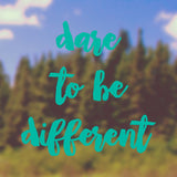Dare to be different | Bumper Sticker | Bumper Sticker | Adnil Creations