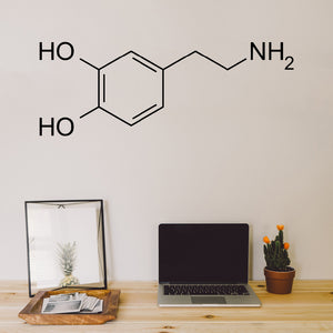 Dopamine Molecule | Wall Decal | Wall Art | Adnil Creations