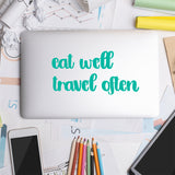 Eat Well Travel Often | Laptop Decal | Macbook Decal | Adnil Creations