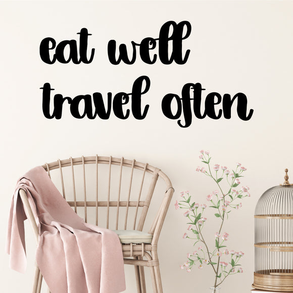 Eat well travel often | Wall Quote | Wall Quote | Adnil Creations