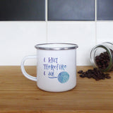 I knit therefore I am | Enamel Mug | Mug | Adnil Creations