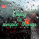 Enjoy the simple things | Bumper Sticker | Bumper Sticker | Adnil Creations