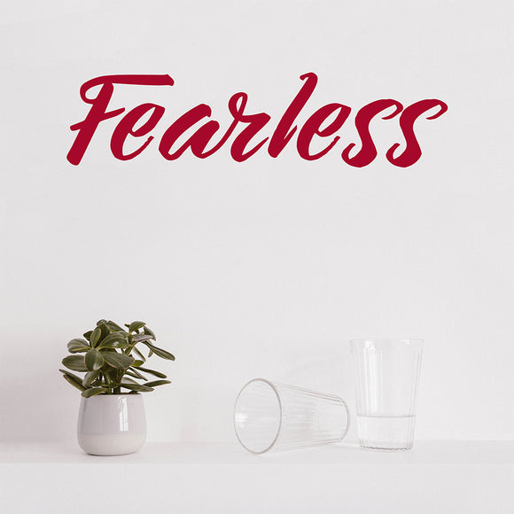 Fearless | Wall Quote | Wall Quote | Adnil Creations