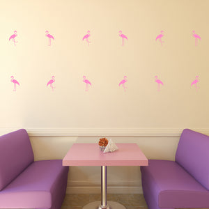 Set of 50 Flamingo Wall Stickers | 3 sizes available to choose from