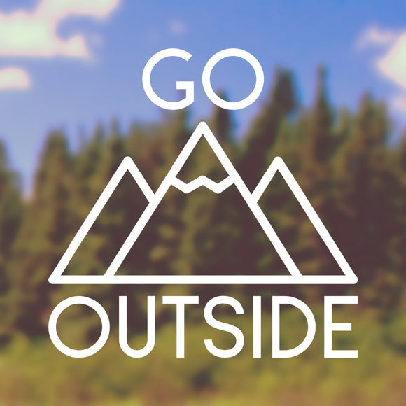 Go outside | Bumper Sticker | Bumper Sticker | Adnil Creations