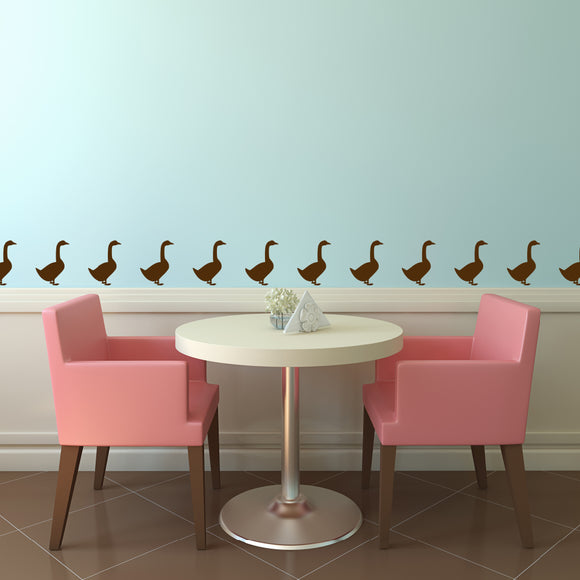 Set of 50 Goose Wall Stickers | 5 sizes available to choose from | Repeating Pattern | Adnil Creations