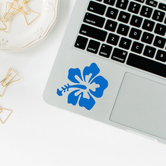 Hibiscus | Trackpad decal | Macbook Decal | Adnil Creations