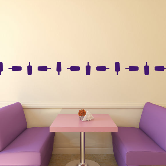 Set of 50 Ice Lolly Wall Stickers | 4 sizes available to choose from | Repeating Pattern | Adnil Creations