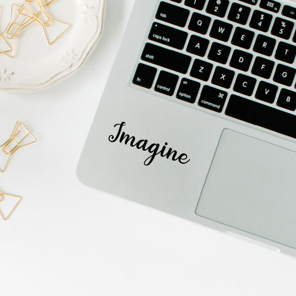 Imagine | Trackpad decal | Macbook Decal | Adnil Creations