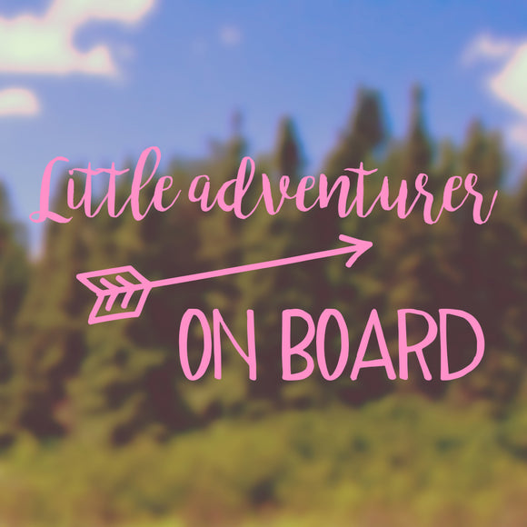 Little adventurer on board | Bumper Sticker | Bumper Sticker | Adnil Creations