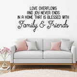 Love overflows and joy never ends | Wall Quote | Wall Quote | Adnil Creations