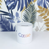 Personalised Ceramic Money Box | Bright Ombre