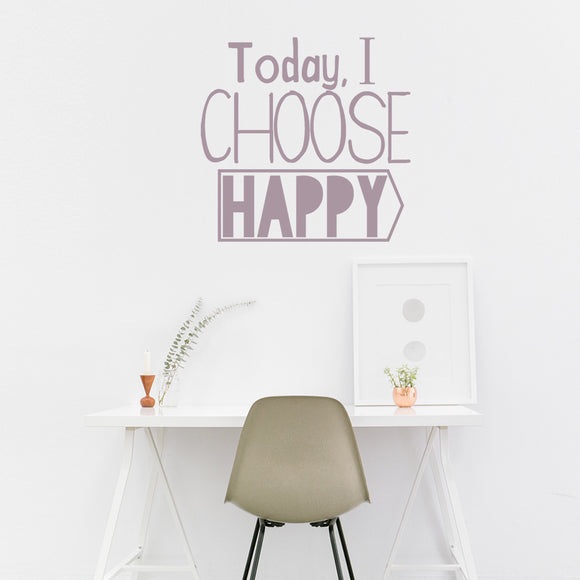 Today I choose happy | Wall Quote | Wall Quote | Adnil Creations