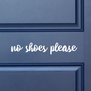 No shoes please | Door Decal | Door Decals | Adnil Creations