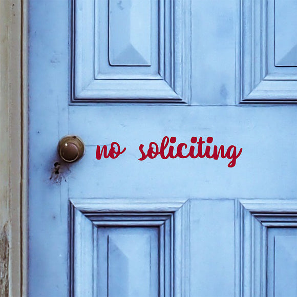 No soliciting | Door Decal | Door Decals | Adnil Creations