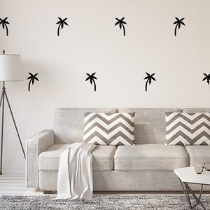 Set of 50 Palm Tree Wall Stickers | 3 sizes available to choose from | Repeating Pattern | Adnil Creations