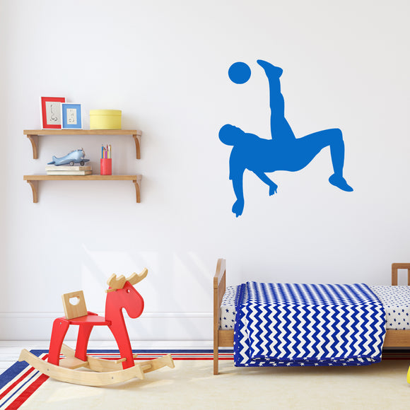 Football overhead kick | Wall Decal | Wall Art | Adnil Creations