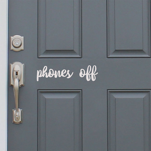 Phones off | Door Decal | Door Decals | Adnil Creations