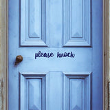Please knock | Door Decal | Door Decals | Adnil Creations