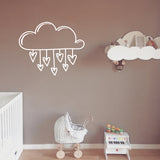 Raining love hearts | Wall Decal | Wall Art | Adnil Creations