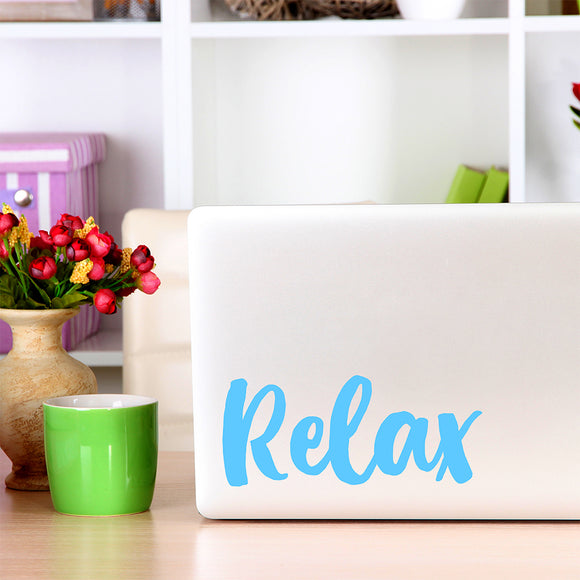 Relax | Laptop Decal | Macbook Decal | Adnil Creations