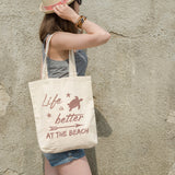 Life is better at the beach | 100% Cotton Tote Bag | Tote Bag | Adnil Creations
