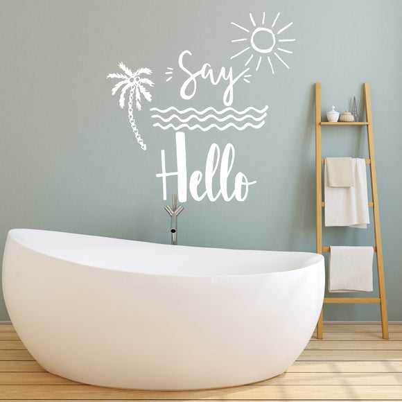 Say hello | Wall Quote | Wall Quote | Adnil Creations