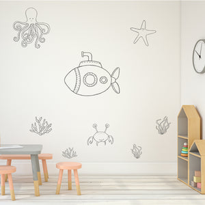 Underwater Theme Set | Wall Decal | Wall Art | Adnil Creations