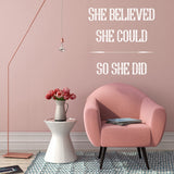 She believed she could so she did | Wall Quote | Wall Quote | Adnil Creations
