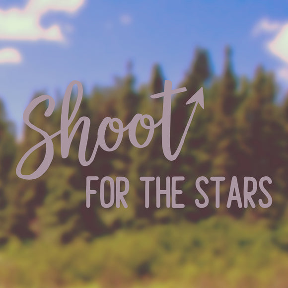 Shoot for the stars | Bumper Sticker | Bumper Sticker | Adnil Creations