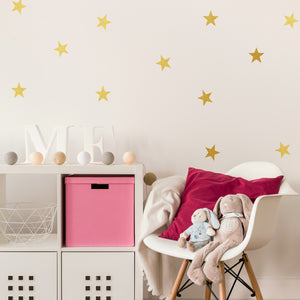 Set of 50 Star Wall Stickers | 5 sizes available to choose from | Repeating Pattern | Adnil Creations