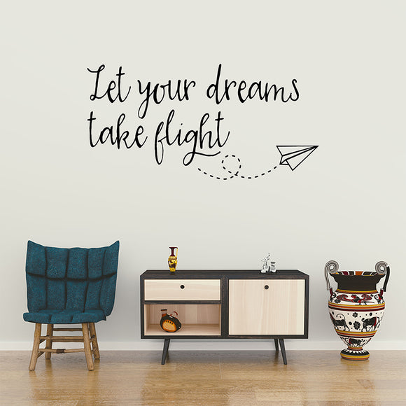Let your dreams take flight | Wall Quote | Wall Quote | Adnil Creations