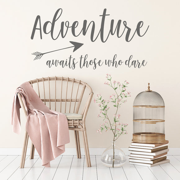 Adventure Awaits those who dare | Wall Quote | Wall Quote | Adnil Creations