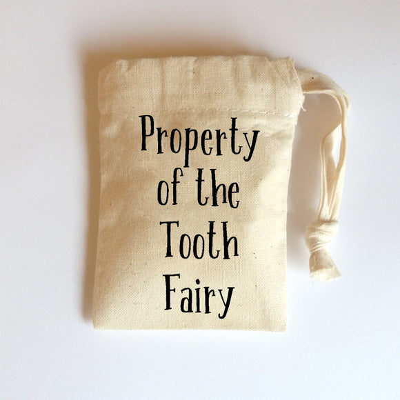 Tooth Fairy Pouch | Small Cotton Drawstring Bag | Tiny Bags | Adnil Creations